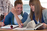 EFL (English as a Foreign Language) class, Adult Learning Centre, Guildford, Surrey.
