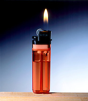 BUTANE LIGHTER With Flame<br />