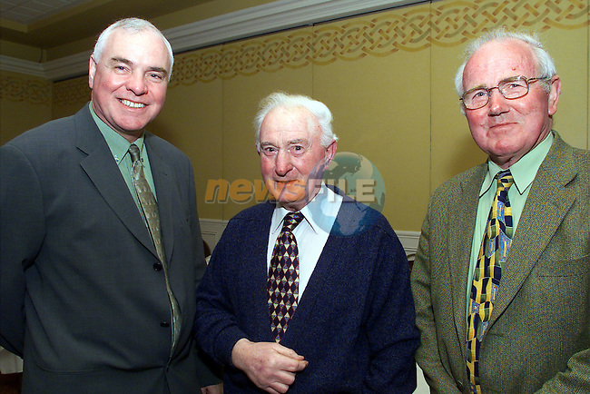 Willie Lennon, Drogheda Port Company, Jacko Smith and Kevin Heeney pictured at the Drogheda Deep sea dockers retirement function at the Westcourt hotel ..Picture: Arthur Carron/Newsfile