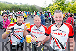 Paddy O'Connor, Declan Costello and Louis Byrne Tralee Cyclists at the Ring of Kerry Charity Cycle on Saturday.
