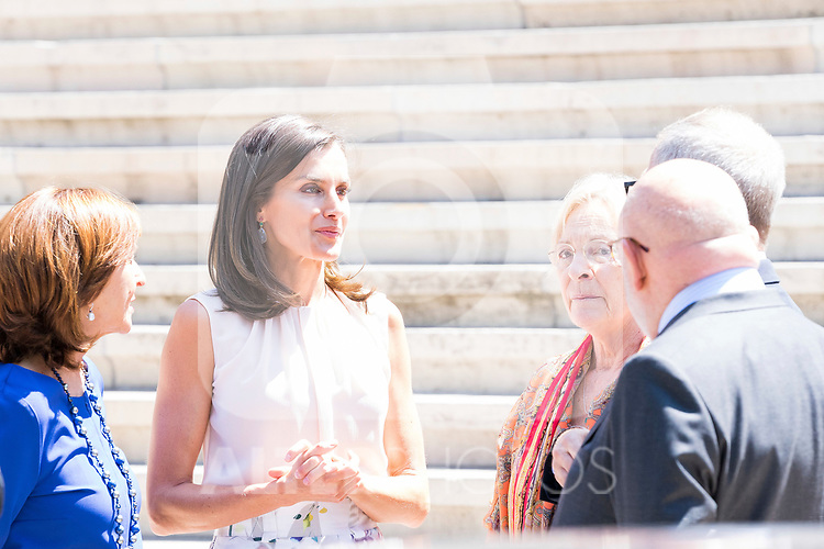 Queen Letizia of Spain visits Biblioteca Nacional. July 30, 2019. (ALTERPHOTOS/Francis González)