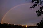 September 9, 2018; Rainbow over the St. Mary's Lake (Photo by Matt Cashore/University of Notre Dame)
