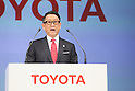 Akio Toyoda (President and CEO of Toyota Motor Corporation) appears at a ceremony on MARCH 13, 2015 in Tokyo, Japan to announce Toyota's sponsorship of the Olympic movement. Japanese auto maker Toyota signed up to become a top level Official Worldwide Olympic Partner.<br /> (Photo by Yohei Osada/AFLO SPORT) [1156]