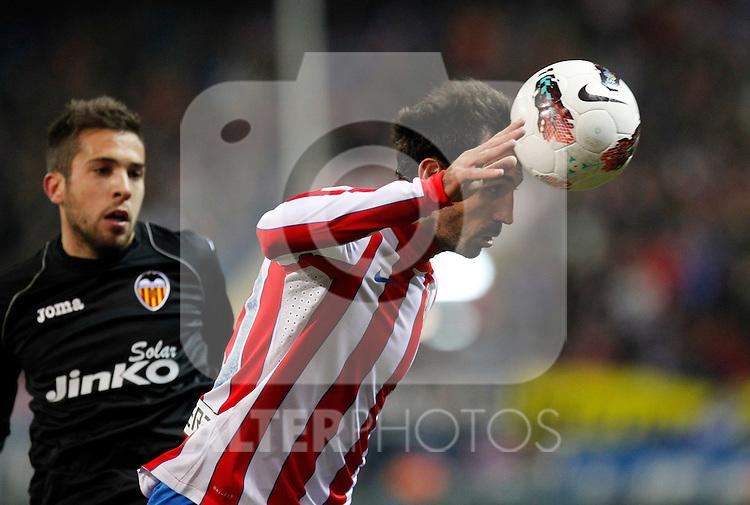 Madrid (05/02/2012) LIGA BBVA.Atletico de Madrid- Valencia C.F...JORDI ALBA, JUANFRAN.....