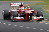MELBOURNE, 17 MARCH - Fernando Alonso (ESP) from the Scuderia Ferrari team goes through turn one in the 2013 Formula One Rolex Australian Grand Prix at the Albert Park Circuit in Melbourne, Australia. Photo Sydney Low/syd-low.com
