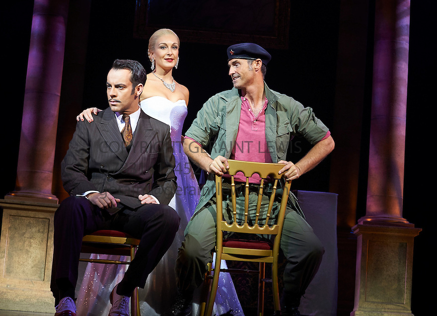 Evita . Music by Andrew Lloyd Webber, Lyrics by Tim Rice . With Ben Forster as Agustin Magaldi , Madalena Alberto as Evita, Marti Pellow as Che. Opens at The Dominion Theatre on 22/9/14. CREDIT Geraint Lewis