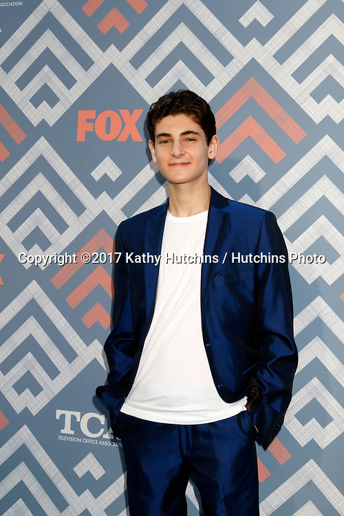 LOS ANGELES - AUG 8:  David Mazouz at the FOX TCA Summer 2017 Party at the Soho House on August 8, 2017 in West Hollywood, CA