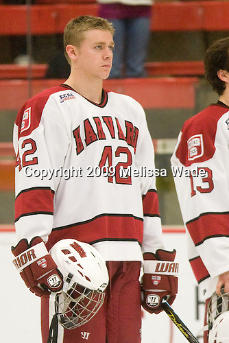 Brendan Rempel (Harvard - 42) - The Dartmouth College Big Green defeated the Harvard University Crimson 6-2 on Sunday, November 29, 2009, at Bright Hockey Center in Cambridge, Massachusetts.