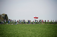 polish flag over race leaders<br /> <br /> 50th Amstel Gold Race 2015