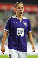 20190912 - Anderlecht , BELGIUM : Anderlecht's Stefania Vatafu is pictured during the female soccer game between the Belgian Royal Sporting Club Anderlecht Dames  and BIIK Kazygurt from Shymkent in Kazachstan, this is the first leg in the round of 32 of the UEFA Women's Champions League season 2019-20120, Thursday 12 th September 2019 at the Lotto Park in Anderlecht , Belgium. PHOTO SPORTPIX.BE | SEVIL OKTEM