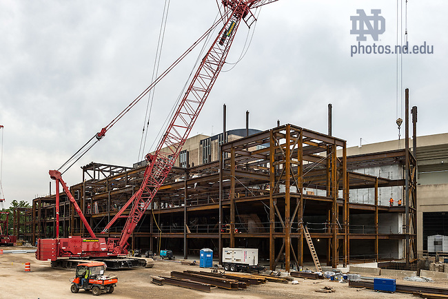 Jul. 8, 2015; Duncan Student Center under construction. (Photo by Matt Cashore/University of Notre Dame)