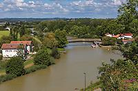 France, Aquitaine, Pyrénées-Atlantiques, Pays Basque,  Guiche: le port sur l' Adour  //  France, Pyrenees Atlantiques, Basque Country, Guiche: Adour river port