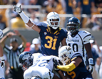 September 1, 2012: California's Tyre Ellison signals for a possible turn over during a game against Nevada at Memorial Stadium, Berkeley, Ca   Nevada defeated California 31 - 24