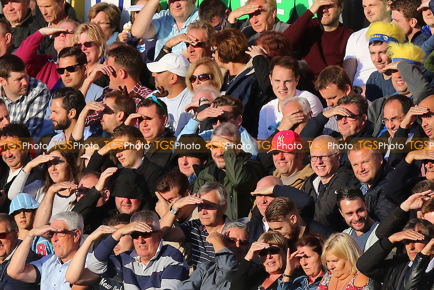 Spectators look into the low sun during Essex Eagles vs Kent Spitfires, Nat West T20 Blast Cricket at the Essex County Ground on 1st July 2016