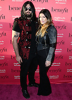HOLLYWOOD, LOS ANGELES, CA, USA - SEPTEMBER 26: Wes Cage, Danielle Cage arrive at the Benefit Cosmetics: Wing Woman Weekend Kick-Off Party held at the Benefit Tattoo Parlor on September 26, 2014 in Hollywood, Los Angeles, California, United States. (Photo by Xavier Collin/Celebrity Monitor)