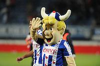 VOETBAL: HEERENVEEN: Abe Lenstra Stadion 04-04-2015, SC Heerenveen - NAC, uitslag 0-0, SC Heerenveen mascotte Heero, ©foto Martin de Jong