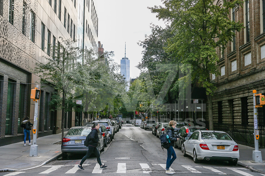 NOVA YORK, EUA, 22.10.2018 - CIDADE-NOVA YORK - Vista do bairro Greewich Village com o One World Trade Center ao fundo em Nova York . (Foto: William Volcov/Brazil Photo Press)