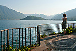 Looking at Lake Como, Italy from Parco Meyer in the town of Tremezzo