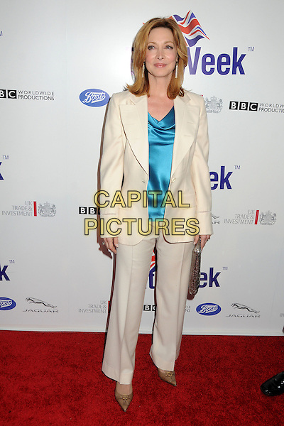 Sharon Lawrence.BritWeek 2012 Official Launch held at a Private Residence, Los Angeles, California, USA..April 24th, 2012.full length beige white cream blue blouse trousers blazer jacket.CAP/ADM/BP.©Byron Purvis/AdMedia/Capital Pictures.