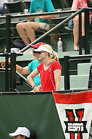 23 May 2006: Julie Scott-Thu during Stanford's 4-1 win over the Miami Hurricanes in the 2006 NCAA Division 1 Women's Tennis Team Championships at the Taube Family Tennis Stadium in Stanford, CA.
