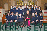 Students from Millstreet Presentation National School who received their Confirmation from Bishop Bill Murphy in Millstreet last Friday. .