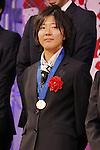 Yuki Nagasato (JPN), DECEMBER 27, 2011 - Football / Soccer : Yuki Nagasato of Japan attends Celebration party for FIFA Women's World Cup Champion at Tokyo Dome City in Tokyo, Japan. (Photo by Yusuke Nakanishi/AFLO SPORT) [1090]