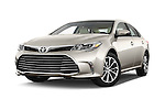 Stock pictures of low aggressive front three quarter view of 2018 Toyota Avalon XLE 4 Door Sedan Low Aggressive