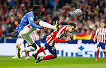 Athletic Club de Bilbao's Inaki Williams and Atletico de Madrid's Mario Hermoso during La Liga match. Oct 26, 2019. (ALTERPHOTOS/Manu R.B.)