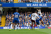Burnley's Sam Vokes scores the opening goal <br /> <br /> Photographer Craig Mercer/CameraSport<br /> <br /> The Premier League - Chelsea v Burnley - Saturday August 12th 2017 - Stamford Bridge - London<br /> <br /> World Copyright &copy; 2017 CameraSport. All rights reserved. 43 Linden Ave. Countesthorpe. Leicester. England. LE8 5PG - Tel: +44 (0) 116 277 4147 - admin@camerasport.com - www.camerasport.com