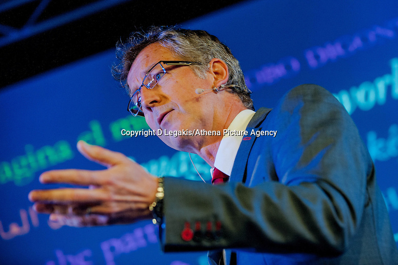 Thursday  29 May 2014, Hay on Wye, UK<br /> Pictured: Horrible Histories illustrator Martin Brown <br /> Re: The Hay Festival, Hay on Wye, Powys, Wales UK.