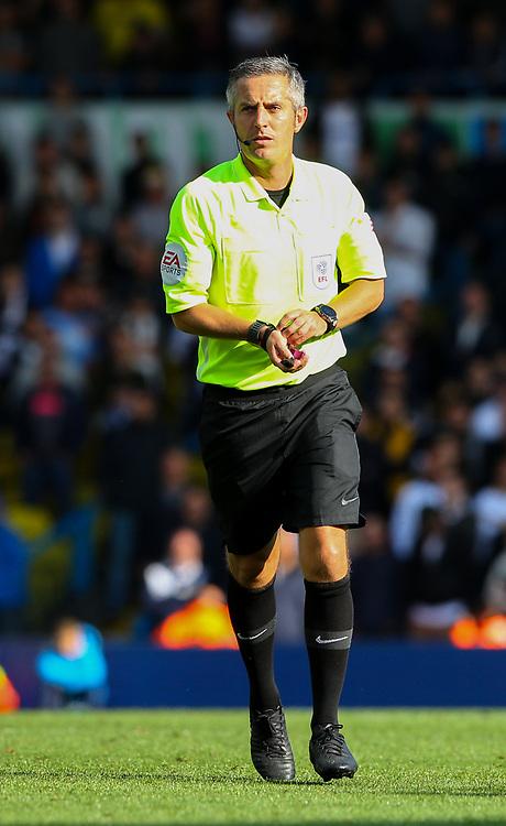 Referee Darren Bond<br /> <br /> Photographer Alex Dodd/CameraSport<br /> <br /> The EFL Sky Bet Championship - Leeds United v Swansea City - Saturday 31st August 2019 - Elland Road - Leeds<br /> <br /> World Copyright © 2019 CameraSport. All rights reserved. 43 Linden Ave. Countesthorpe. Leicester. England. LE8 5PG - Tel: +44 (0) 116 277 4147 - admin@camerasport.com - www.camerasport.com