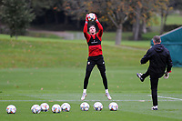Wayne Hennessey of  Wales in action during the Wales Training Session at The Vale Resort in Cardiff, Wales, UK. Monday 8 October 2018