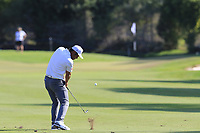 Hideto Tanihara (JPN) plays his 2nd shot on the 17th hole during Sunday's Final Round of the 2018 Turkish Airlines Open hosted by Regnum Carya Golf &amp; Spa Resort, Antalya, Turkey. 4th November 2018.<br /> Picture: Eoin Clarke | Golffile<br /> <br /> <br /> All photos usage must carry mandatory copyright credit (&copy; Golffile | Eoin Clarke)