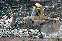 LANDFILL<br /> Bulldozer Compacts &amp; Layers Refuse<br /> Sullivan County, NY