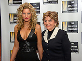 Summer Zervos, who accused United States President Donald Trump of groping her in 2007, and who is suing the President for defamation after he claims they never met at his hotel, and attorney Gloria Allred arrive for the Creative Coalition Inaugural Ball for the Arts at the Harman Center for the Arts in Washington, DC on Friday, January 20, 2017.<br />