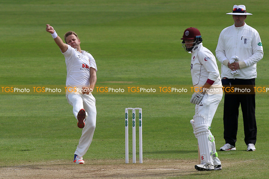 Neil Wagner in bowling action for Essex during Somerset CCC vs Essex CCC, Specsavers County Championship Division 1 Cricket at The Cooper Associates County Ground on 15th April 2017