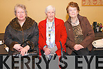 Eileen O'Grady (Castlegregory), Chris Carroll (Tralee), and Rose Kelliher (Castlegregory) enjoying the Senior Citizens Annual Social at the Skellig Hotel in Dingle on Sunday afternoon.