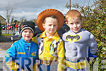 FESTIVE FUN: Enjoying the St Patrick's Day parade in Glenbeigh on Saturday l-r: Dillon and Lucs Riordan and Craig Cliggord...