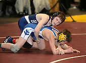 Shane Connolly and Matt Ross wrestle at the 96 weight class during the NY State Wrestling Championships at Blue Cross Arena on March 8, 2008 in Rochester, New York.  (Copyright Mike Janes Photography)