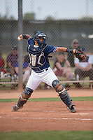 San Diego Padres catcher Juan Fernandez (55) during a Minor League Spring Training game against the Seattle Mariners at Peoria Sports Complex on March 24, 2018 in Peoria, Arizona. (Zachary Lucy/Four Seam Images)