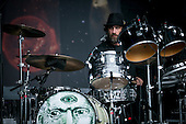 paulo Baldi; drummer; THE CLAYPOOL LENNON DELIRIUM; Live: 2016<br /> Photo Credit: JOSH WITHERS/ATLASICONS.COM