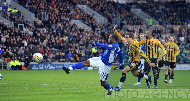 Hull City v Leicester City..GOAL... Leicesters Darius Vassell makes it 1-0