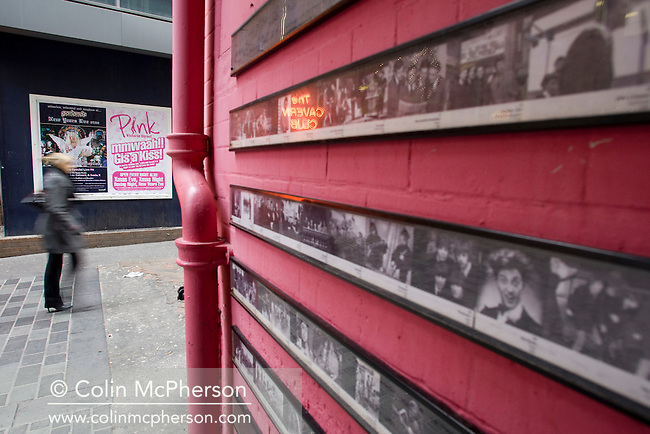 Matthew Street, outside the Cavern Club, in Liverpool. The city was the birthplace of the Beatles and the Merseybeat scene of the 1960s. Many of the original venues still survive as does a thriving modern music scene with the city being 2008 European Capital of Culture.