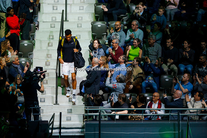 Rotterdam, The Netherlands, 15 Februari 2020, ABNAMRO World Tennis Tournament, Ahoy,<br /> Mens Final: Felix Auger-Aliassime (CAN).<br /> Photo: www.tennisimages.com