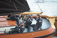 SKUTSJESILEN: WOUDSEND: Hegemer Mar, 06-08-2012, SKS skûtsjesilen, wedstrijd Woudsend, Ut 'e Striid, skûtsje Langweer, schipper Jaap Zwaga, ©foto Martin de Jong