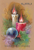 Interlitho, Mercedes, CHRISTMAS SYMBOLS, paintings, 2 candles, blue balls(KL2338/2,#XX#)