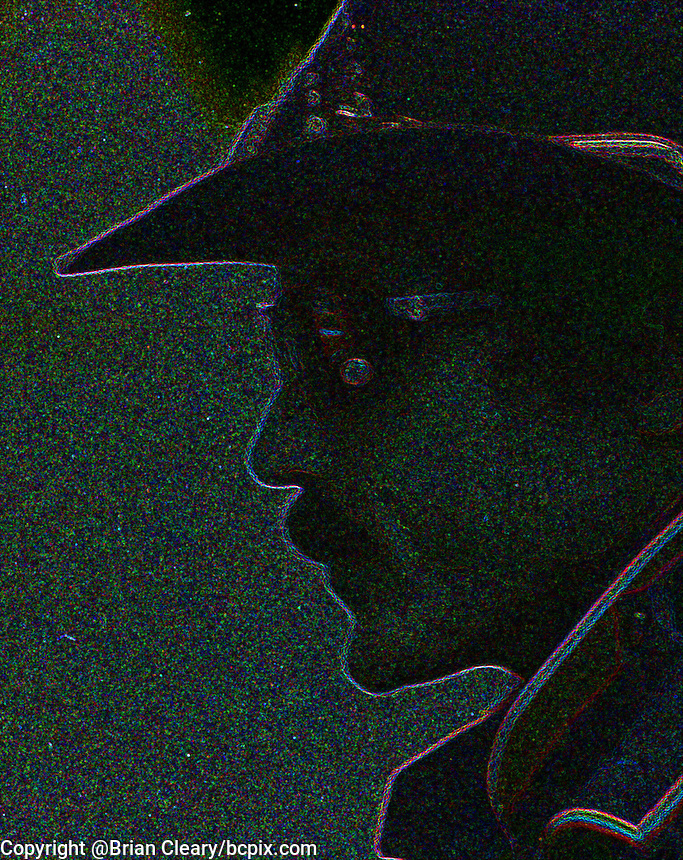 Richard Petty, abstract, digitally manipulated in photoshop, Atlanta Journal 500 at Atlanta International Raceway on November 11, 1984. (Photo by Brian Cleary/www.bcpix.com)