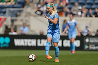 Bridgeview, IL - Saturday May 27, 2017: Julie Johnston Ertz during a regular season National Women's Soccer League (NWSL) match between the Chicago Red Stars and the North Carolina Courage at Toyota Park. The Red Stars won 3-2.