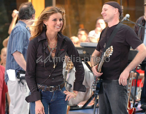 05 August 2005 - New York, New York - Country superstar Faith Hill performs in concert at the NBC Today Show at Rockefeller Center in Manhattan.  <br />