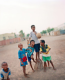 ERITREA, Tio, portrait of kids holding a soccer ball in the town of Tio